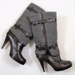 """Cole Haan 7 Kennedy 4"""" High Heel Boots Mid Calf"""